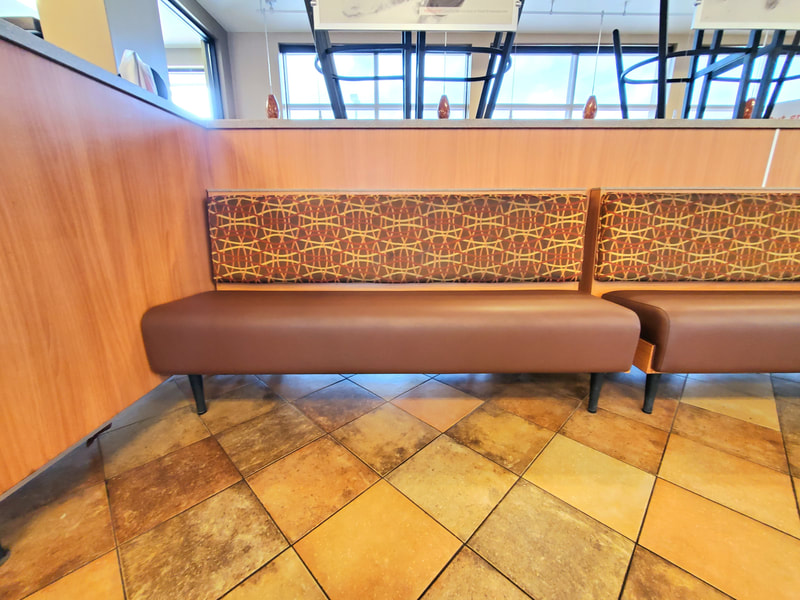 Restaurant Booths, Workout Gym, Commercial Upholstery @seamsupholsteryllc